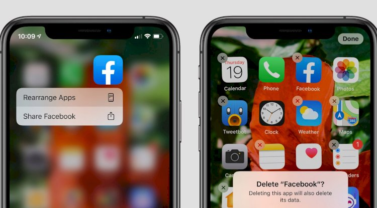 Delete apps on ios 13