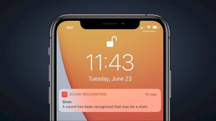 iOS 14  - தீ அபாய அறிவிப்பொலி போன்ற ஒலிகளை அறிவிக்ககின்றது!